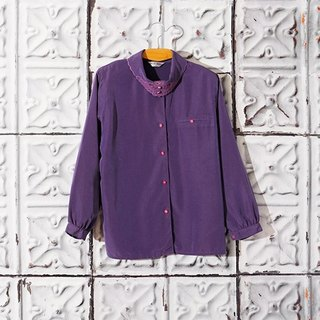 / Lin Bian Meng / Blueberry Night Lapel Embroidery Cutout Shirt Vintage