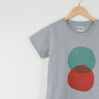 INNER | round intersection T-Shirt - gray linen (female version) only L No.