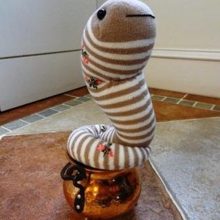 Lucky snake doll sock doll