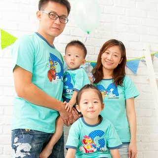 [Treasure hunt adventure (children)] parent-child equipment / boys / short-sleeved T-shirt