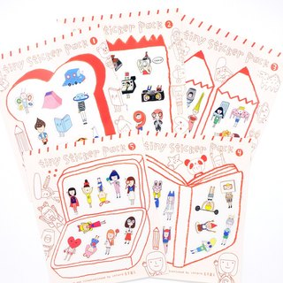 Die Cut Tiny Stickers / Set 1-5