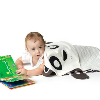 [Super cute fresh goods] Singapore PERIPOP 3 in ONE multifunction panda baby blanket