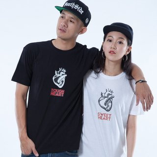 "Icarus ICARUS original fashion design short TEE Couples Series - ""HEART Heart"" couple models (free transport)"