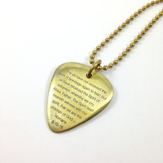 Ohappy typing series. Pick brass necklace