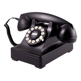 SUSS-UK imported 302 series classic retro style desktop phone / industrial style (classic black)