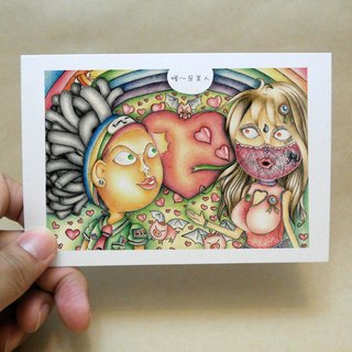 ◈DEEROCK◈ manual illustration, universal card, color pencil ↔ Oh ~ is beauty!