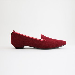WLDenimローヒール(魅力の紅)Heeled Loafers