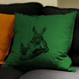 [K] angaroo Kangaroo: hand-painted letters pillow