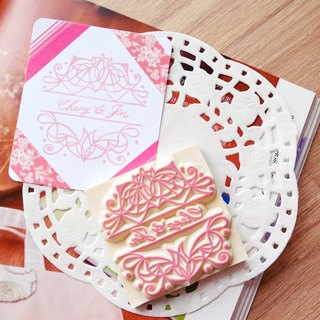 Red Warm Hand Handmade Rubber Slips | Simple Line Wedding Chapter 6X6cm