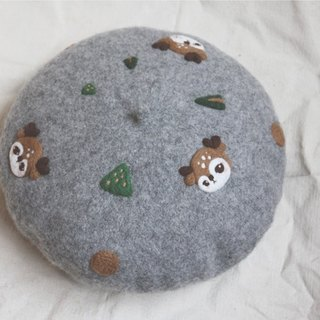 Autumn Forest Fawn Garden Wool felt painter hat