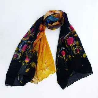 Late Dreamer long silk scarf