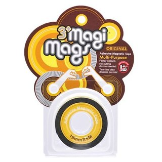 3+ MagiMags Magnetic Tape    19mm x 5M Neon.Yellow