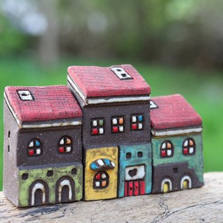 [Painting village Colorful Village] - hand-painted fairy Thao House - Red Roof / 3 co-purchase / custom orders