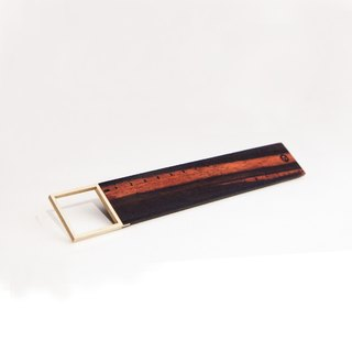 [Hylé design Macau] SIMPLE 90 ° RULER rosewood X-nickel alloy Squares