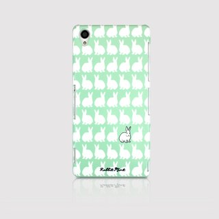 (Rabbit Mint) Mint Rabbit Phone Case - Little Rabbit Pattern Series - Sony Z3 (P00066)