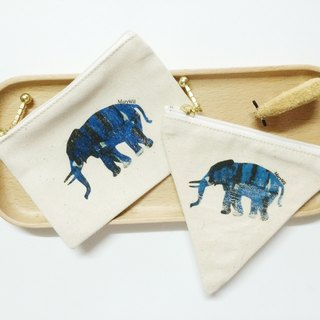 MaryWil Coin Bag-Blue Elephant