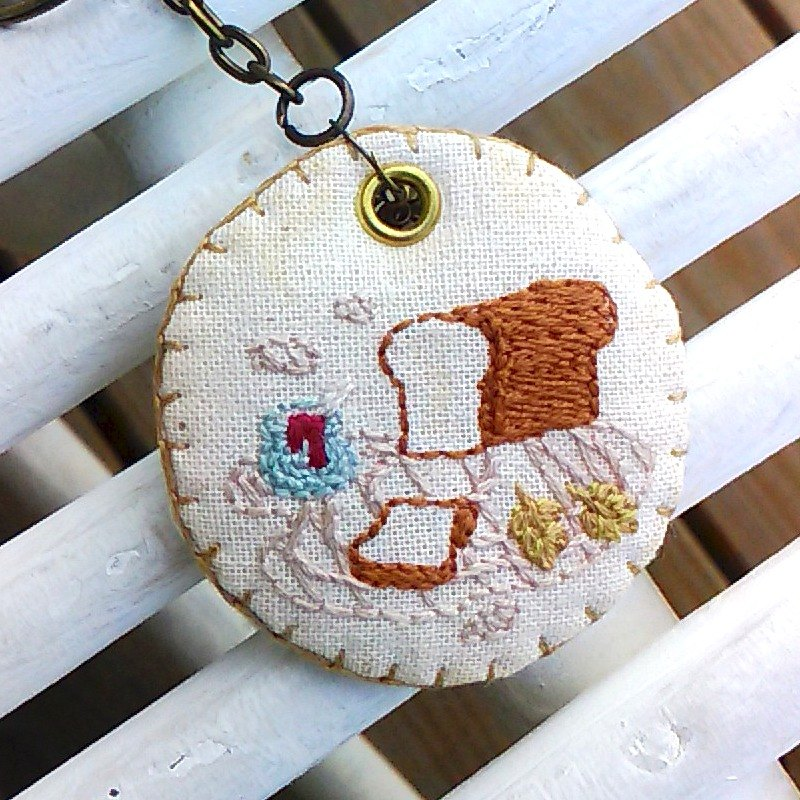 [Country Time] Embroidered Charm - Handmade Toast