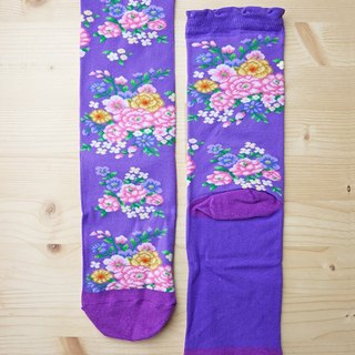 JHJ Design Canadian brand high-degree knitted cotton socks Hakka cloth - knitted socks (purple)