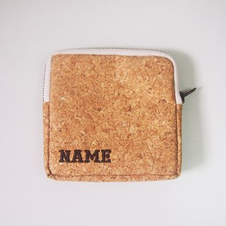 Personalized Name Cork Coin Purse with Zipper Purses Custom made Name Pouch Pouches