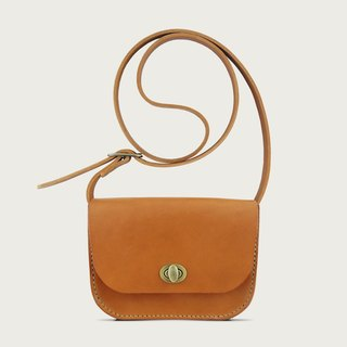 Turn small shoulder bag / side backpack -- camel yellow