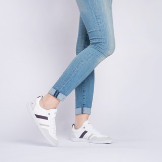 OPALE Stone White /Grape  PET RECYCLE and Eco-friendly shoes for WOMEN