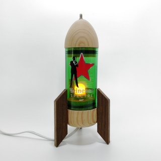 Red Rocket Bottle Night Light