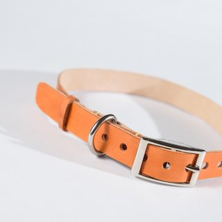 Handmade leather pet collar - dog collar (medium dogs) Legend Tiger Orange can be customized