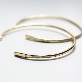 Simple series - brass knocking C type thin bracelet