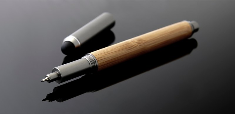 ECO bamboo series writing touch dual-use automatic pencil set