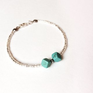 """KeepitPetite"" Turkish turquoise bow design bracelet"