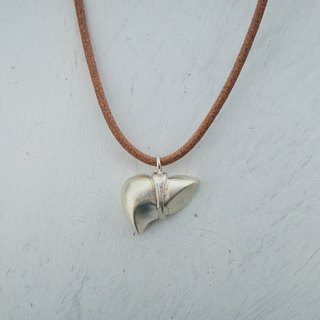 organs - liver silver pendant with leather necklace