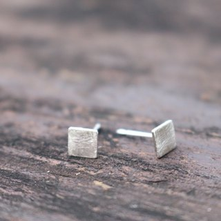 Silver earring 0722(little square)