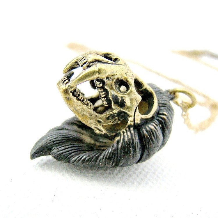 Zodiac pendant Lion skull is for Leo