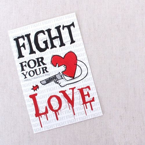 1212 play Design funny postcards - fight for love