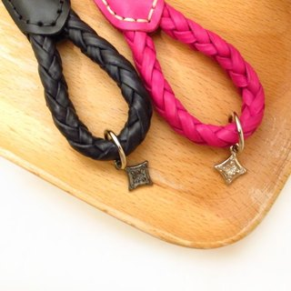 Christmas exchange gift brand leather key ring [Sweetheart Peach] Spot