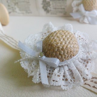 Oops! [Summer lace tutu mini hat hair accessories] - diamond section
