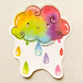 Rainbow Cloud Sticker - Waterproof Sticker - Laptop Decals - Colorful Sticker