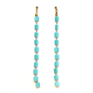 weeping square - blue earrings / earrings