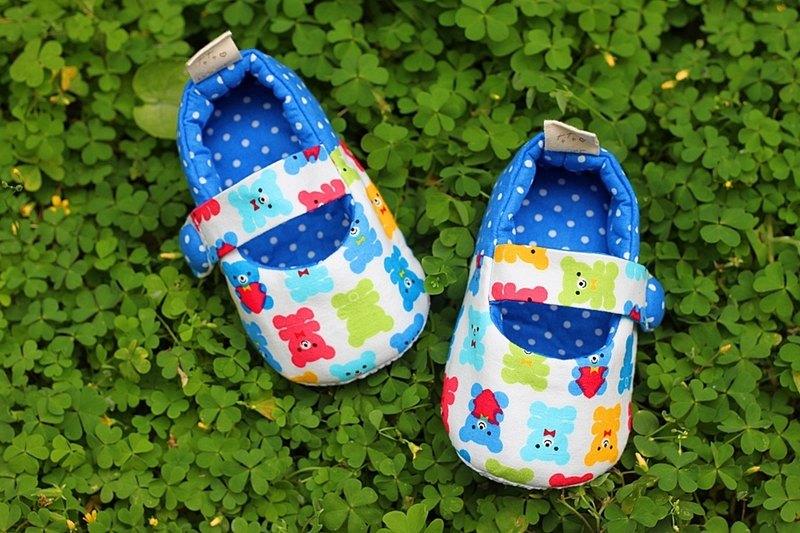彩色熊熊 學步鞋