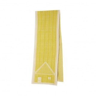 House Wool Scarf - Yellow | Donna Wilson