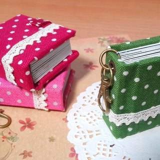 [Classic water jade lace] (green. red. powder) Mini phase key ring 5X4.3cm - custom small things