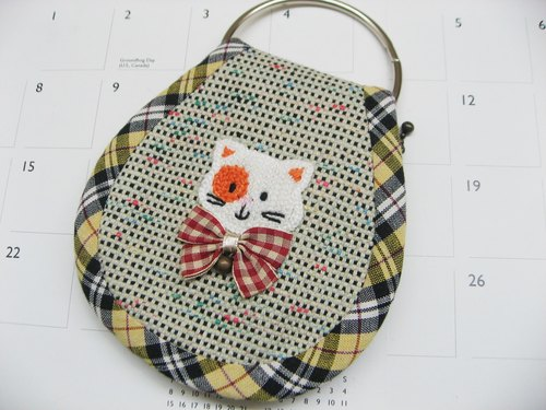 Multifunction Wallets / purse / ticket clip (white meow microphone)