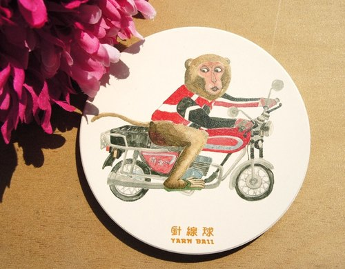Sewing ball animal endemic to Taiwan - Taiwan macaque Wolf ceramic absorbent coaster ride