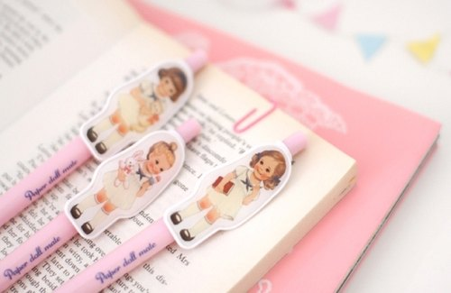 Korea [Afrocat] paperdoll mate ball pen <Alice> Pen Pen cute retro doll _sailor
