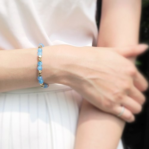 Soar ◆ blue- Unisex / natural ore / opal / brass / neutral style / bracelet bracelet gift custom design