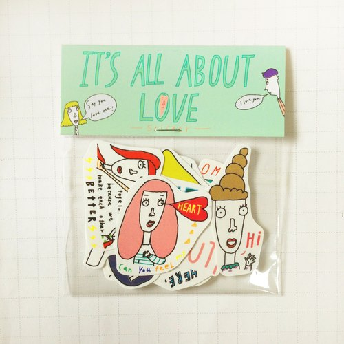 ✿Macaron TOE✿ It's All About Love /Sticker Pack(10 in)