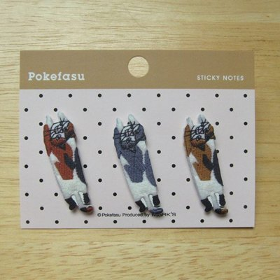 Marks Pokefasu self-adhesive labels index stickers (POK-F2-AC Flying Cat) Embroidery Bear