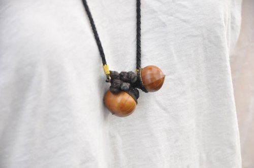 ∥Cheng Jewelry∥A / Ω big winter oak leaf stone No. 1 copper pendant chain ONLY ONE only a