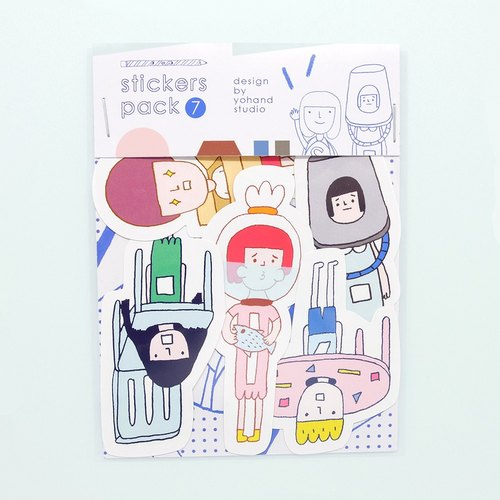Furniture People / Medium Sticker Set 2-7
