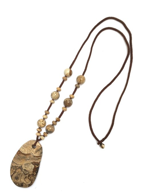N0246 - natural stones - stone necklace picture